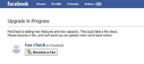 facebook fan check app virus