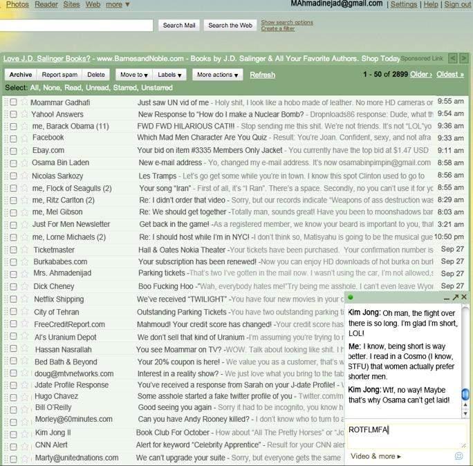 funny mahmoud ahmadinejad gmail
