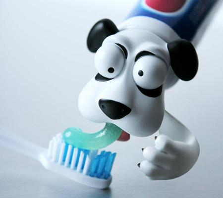 funny toothpaste heads pete dog