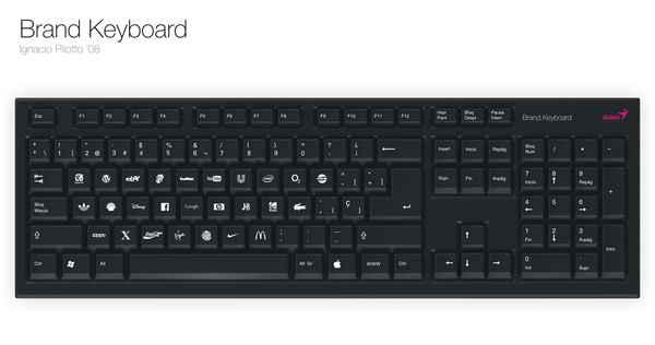computer keyboard branding concept