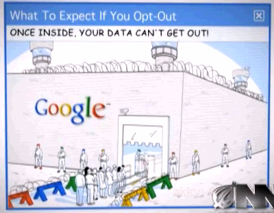 google opt out village parody