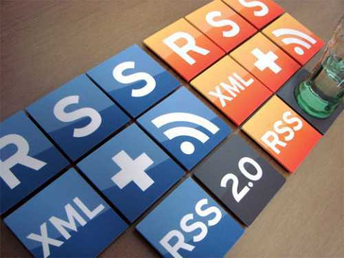 cool rss icons coasters