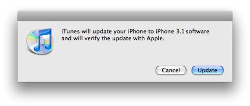 iphone update 3.1