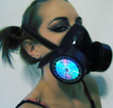 led gas mask