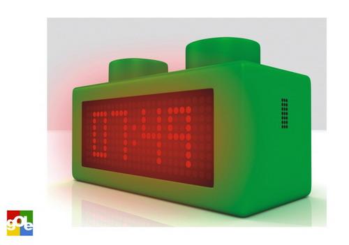 green lego alarm clock
