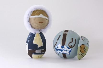 luke skywalker tauntaun kokeshi doll