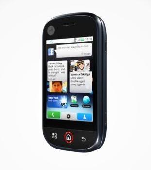 motorola cliq google android smartphone front