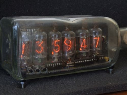 Nixie Tube Clock Bottle Design