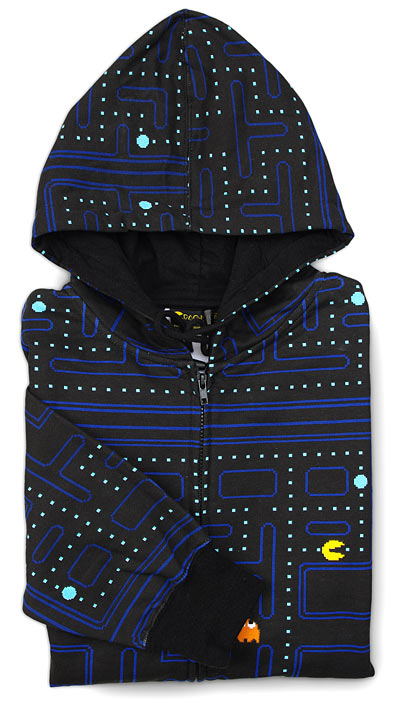cool pacman hooded sweatshirt