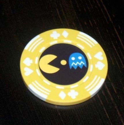 new pacman poker chip