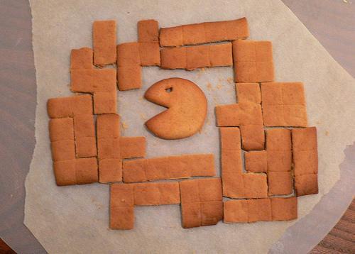 pacman tetris games gingerbread cookies