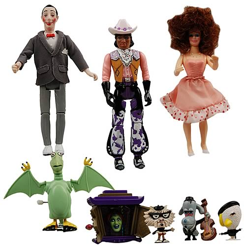 pee wee playhouse action figure set