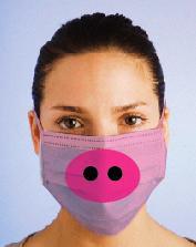pig swine flu surgical mask