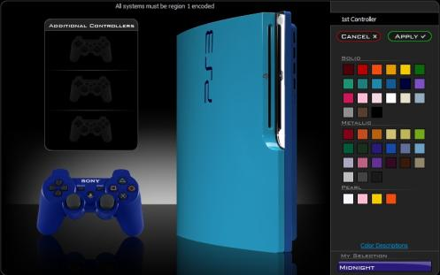 ps3 slim mod blue color