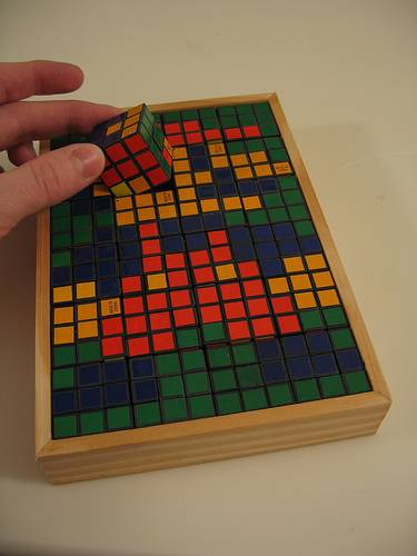 new rubiks cube super mario brothers mosaic