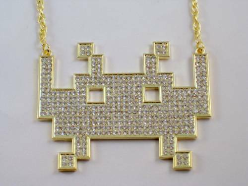 space invaders necklace design