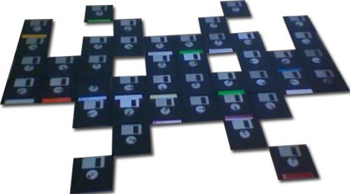 space invaders game with disk