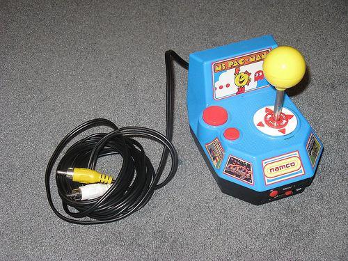 vintage pacman arcade console