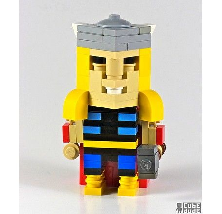 cool thor superhero lego art
