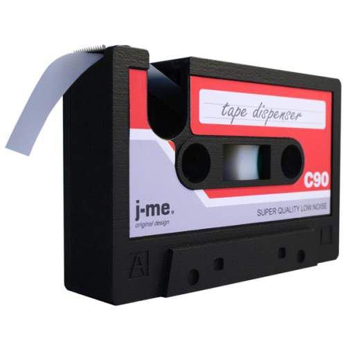 retro cassette tape - tape dispenser