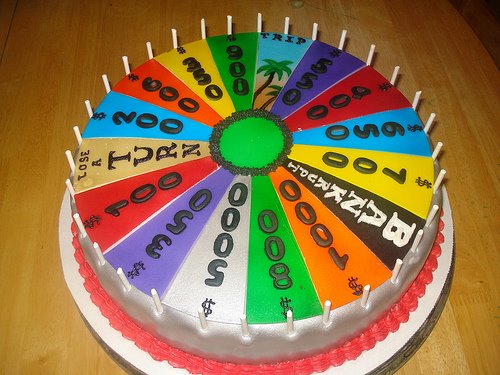 cool wheel of fortune cake