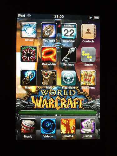 world of warcraft theme for ipod touch
