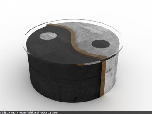 yin yang table design