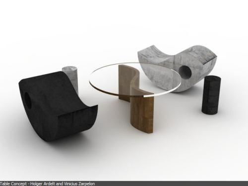 cool yin yang table