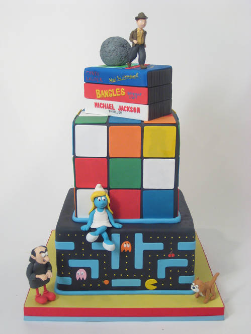 cool 80's cake design