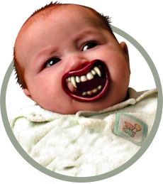 baby vampire teeth pacifier accessory