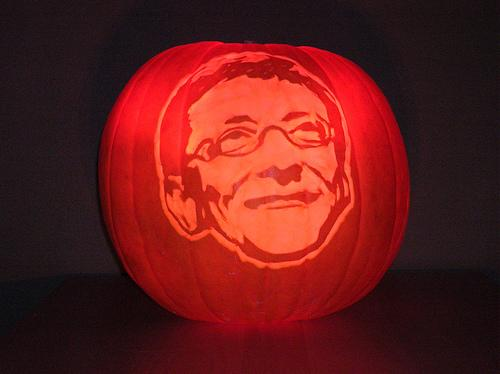 bill gates pumpkin face