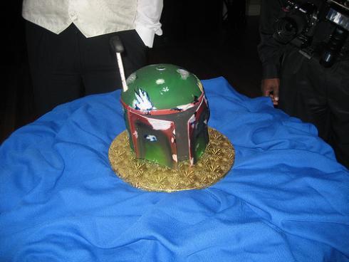 boba fett groom cake
