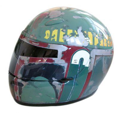 cool boba fett motorcycle helmet