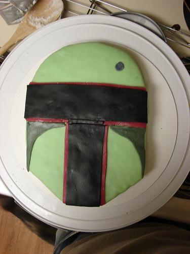 boba fett simple cake