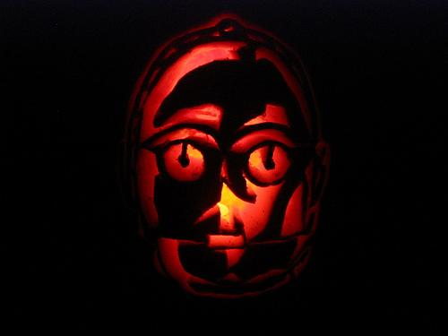 c3po pumpkin face