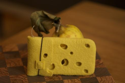 cheese iphone pouch
