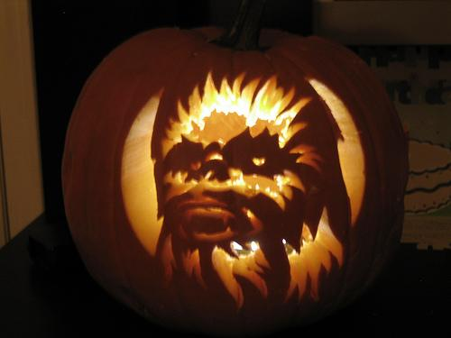 chewbacca pumpkin carving