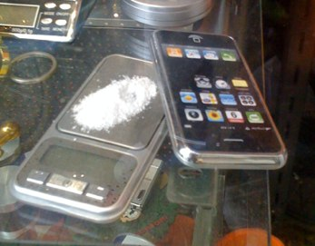 cocaine scale iphone case