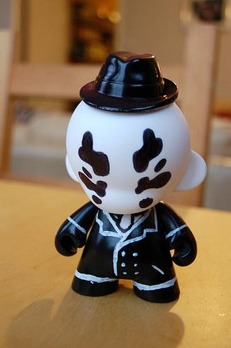 cool rorschach munny doll