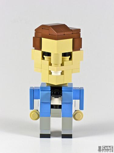 a team faceman lego character