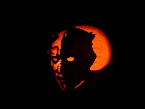 darth maul pumpkin face art