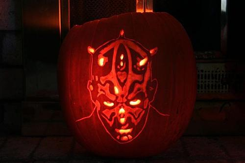 darth maul pumpkin face