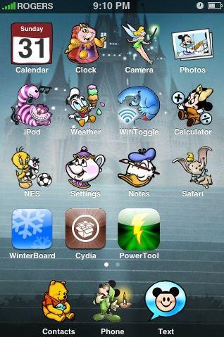 disney iphone icons theme