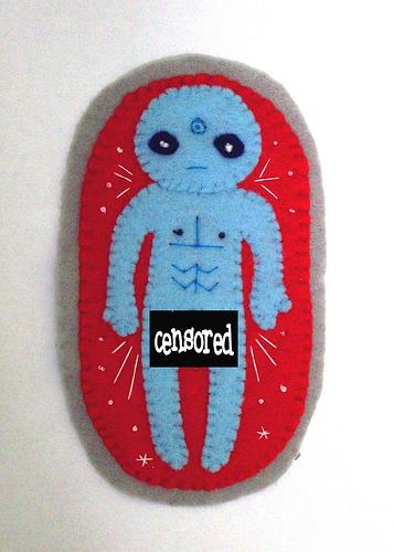 cool dr manhatan felt badge