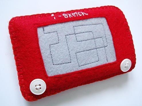etch a sketch iphone sleeve