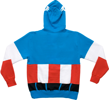 fun captain america costume hoodie