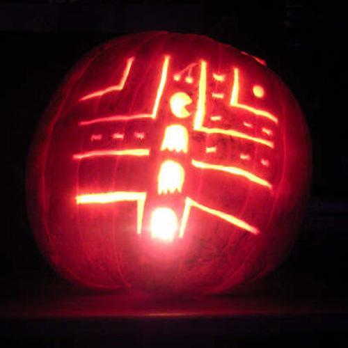 funny pacman pumpkin
