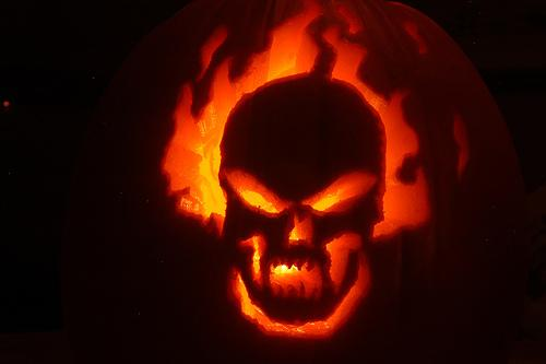 ghost rider pumpkin face