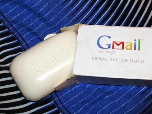 google gmail soap bar
