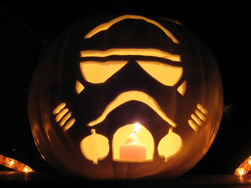imperial stormtrooper pumpkin face